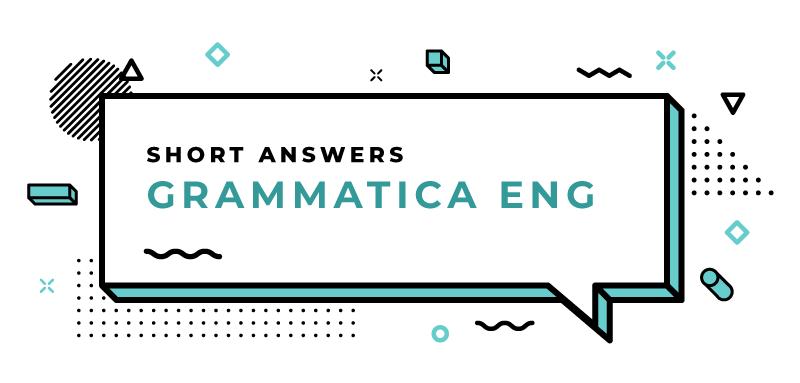 Short-answers-grammatica-inglese