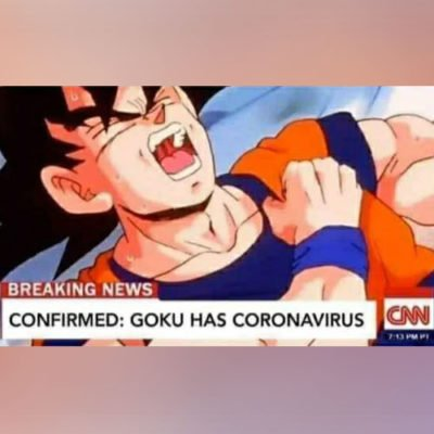 goku colpito dal coronavirus